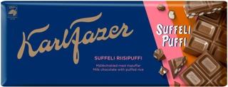 Karl Fazer Suffeli Riisipuffi Suklaalevy 198G