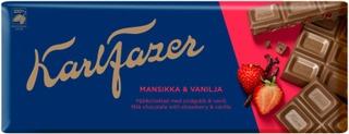 Karl Fazer Mansikka Ja Vanilja Maitosuklaalevy 190G