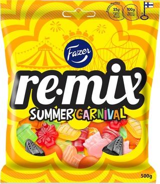 Fazer Remix Summer Karkkipussi 500G