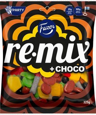 Fazer Remix Choco Karkkipussi 325G