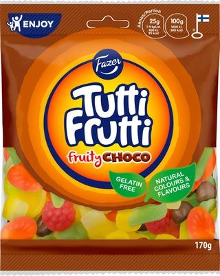 Fazer Tutti Frutti Fruity Choco Karkkipussi 170G