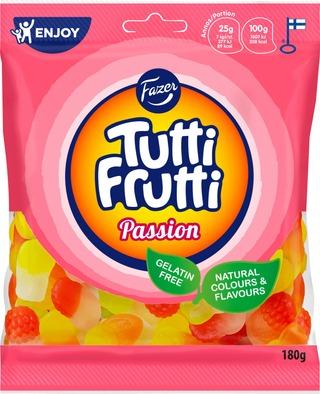 Tutti Frutti Passion 180g hedelmänmakuisia makeiskuvioita, makeissekoitus