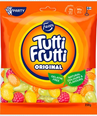 Fazer Tutti Frutti Original 350G Natural Makei