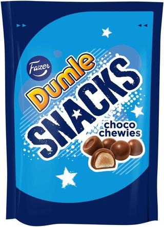 Fazer Dumle Snacks Choco Chewies Toffeekarkkipussi 150G