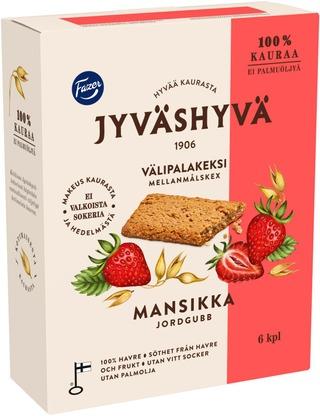Fazer Jyväshyvä Mansikka Välipalakeksi 6X30g 180 G