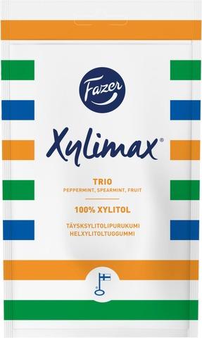 Fazer Xylimax Trio Piparmintun, Spearmintin Ja Hedelmän Makuinen Täysksylitolipurukumi 130G