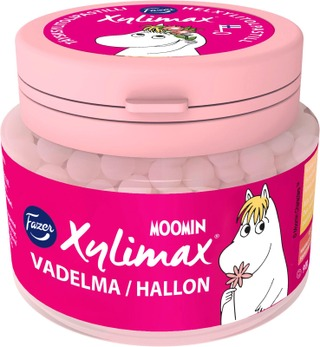 Fazer Xylimax Moomin Vadelmapastilli 90 G