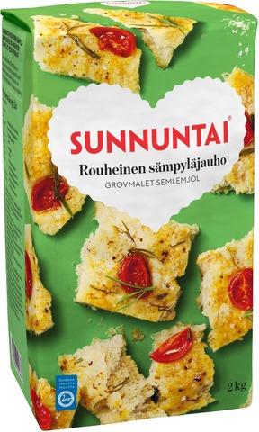 Sunnuntai 2Kg Rouheinen Sämpyläjauho