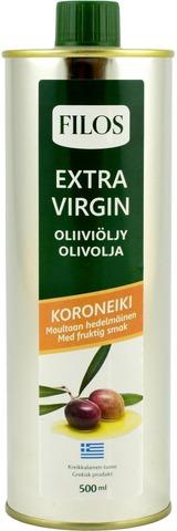 Filos 500ml koroneiki ekstra-neitsytoliiviöljy