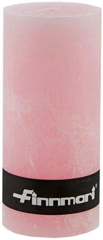 Finnmari Pöytäkynttilä Huurrepinta 7X15cm Vaaleanpunainen