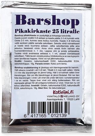 Barshop Viinin Pikakirkasteaineet 16 G