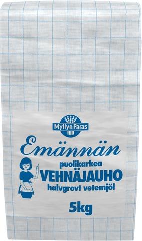 Myllyn Paras Emännän Puolikarkea Vehnäjauho 5Kg