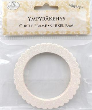 J.k. Primeco Ympyräkehys Glitter Valkoinen 10Kpl/Pkt