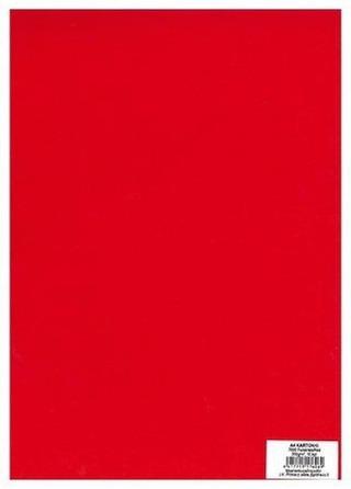 Primeco A4 Kartonki Punainen 10Kpl/Pkt