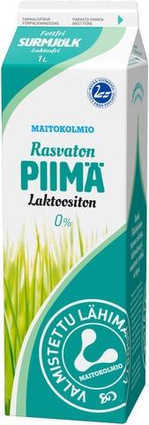 Maitokolmio Laktoositon Rasvaton Piimä 1L