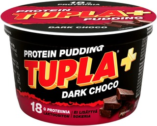 Tupla+ Laktoositon Dark Choco Protein Pudding 180G