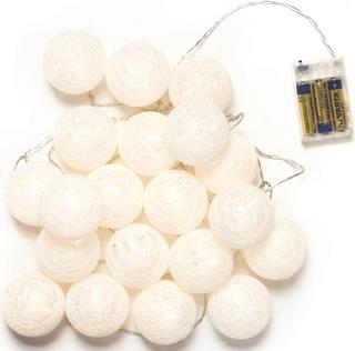 Decora 20 Led Cotton Balls Valosarja Valkoinen