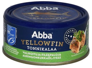 Abba MSC yellowfin tonnikalaa öljyssä 150/105g