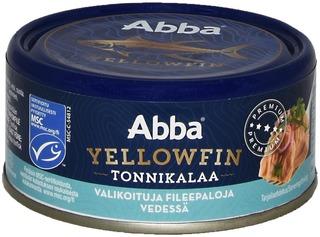 Abba Msc Yellowfin Tonnikalaa Vedessä 150/105G