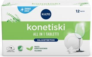 Kiilto Hajusteeton All In 1 Konetiskitabletti 12Kpl