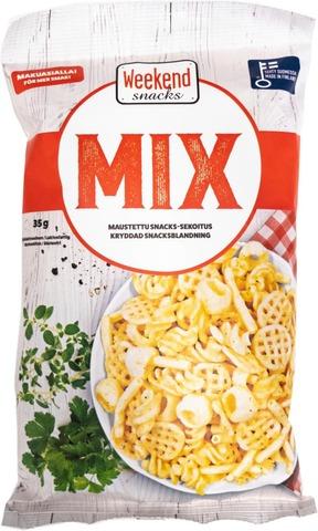 Weekend Mix Snacks 35 g Maustettu snacks-sekoitus