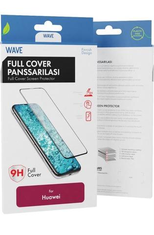 Wave Full Cover Panssarilasi, Huawei Nova 3, Musta Kehys