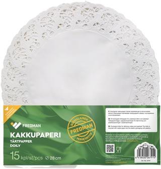 Fredman Kakkupaperi Pyöreä 28Cm 15Kpl