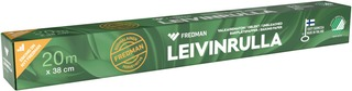 Fredman Leivinrulla Valkaisematon 38Cm X 20M