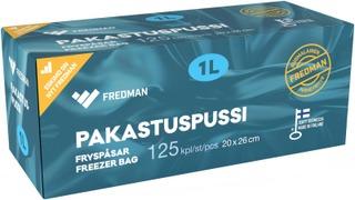 Fredman pakastuspussi 1l 125kpl