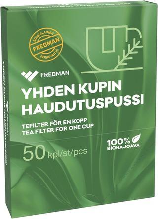 Fredman Yhden Kupin Teenhaudutuspussi 50Kpl