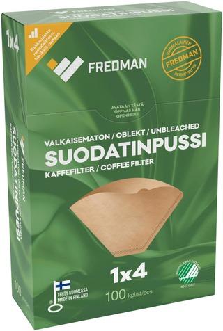 Fredman Suodatinpussi 1x4 valkaisematon 100kpl