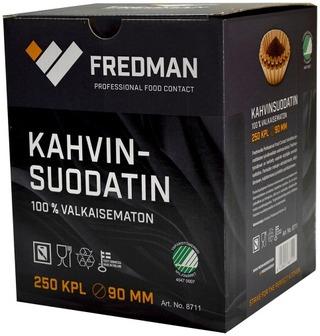 Fredman kahvinsuodatin 90mm 250 kpl