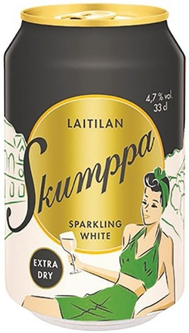 Laitilan Skumppa Sparkling White Extra Dry 4,7% 0,33L Siideri