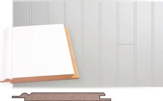 Maler kattopaneeli helmipaneeli ympäripontattu mdf 10x120x2070 mel valkoinen  81800 Maler