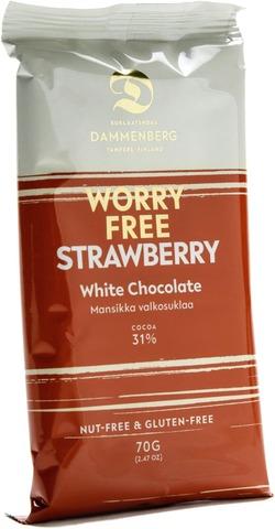 Dammenberg Mansikka Valkosuklaalevy Cacao Trace 70G