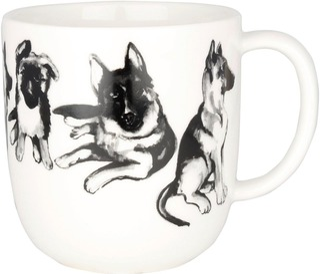 Kultakeramiikka 0,3L Koiran Ystävä -Muki Saksanpaimenkoira