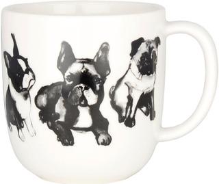 Kultakeramiikka 0,3L Koiran Ystävä -Muki Mopsi-Bulldog