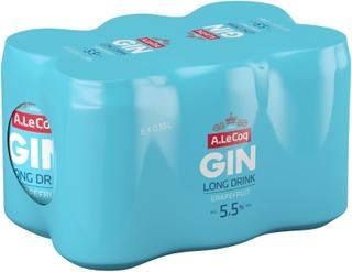 6 x A. Le Coq GIN&Grapefruit Long Drink 5,5% 0,33 l tlk