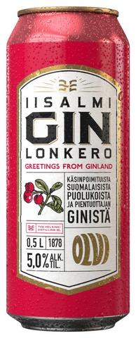 Olvi Iisalmi Puolukka Gin Lonkero 5,0 % 0,5 L Tlk