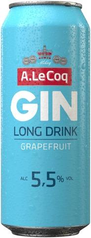 A. Le Coq GIN&Grapefruit Long Drink 5,5% 0,5 l tlk