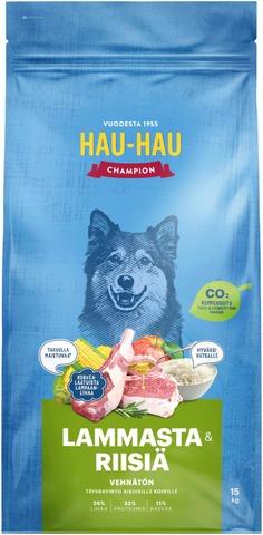 Hau-Hau Champion Lammas-Riisi Täysravinto Kaikille Koirille 15Kg