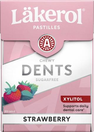 Läkerol Dents Strawberry Ksylitolipastilli 85G