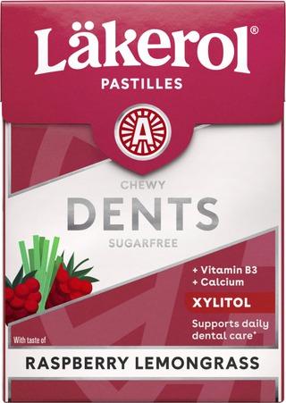 Läkerol Dents Raspberry Lemongrass Ksylitolipastilli 85G