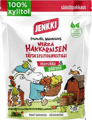 Jenkki Herra Hakkarainen Mansikka & Päärynä Täysksylitolipastilli 150G