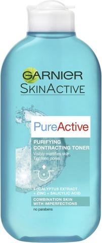 Garnier Skin Active Pure Active Syväpuhdistava Kasvovesi 200Ml