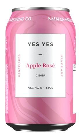 Yes Yes Rosé Apple Cider 4,7% Siideri 0,33L Tölkki