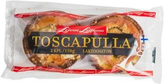 Leivon Leipomo Toscapulla 2 Kpl 150G Vanilliinitäytteinen Mantelikuorrutettu Pulla