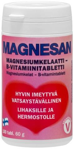 Magnesan Magnesiumkelaattitabletti 100 Tabl