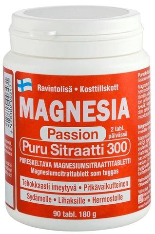 Magnesia Passion Puru Sitraatti 300 Magnesiumsitraattitabletti 90 Tabl