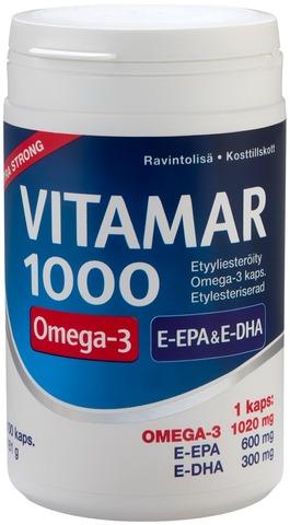 Vitamar 1000 Etyyliesteröity Omega-3-Kapseli 100 Kaps
